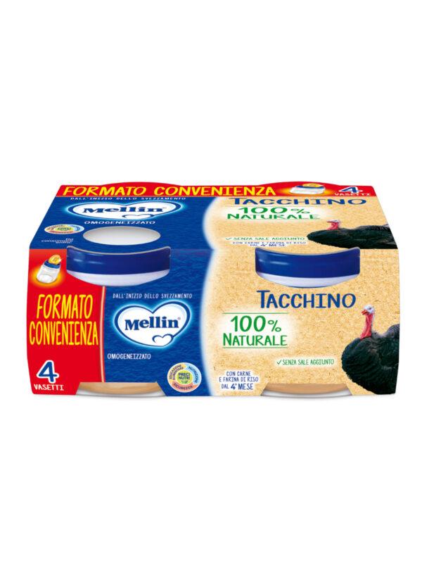 MELLIN Omogeneizzato tacchino 4x80 gr - MELLIN - Omogeneizzato carne