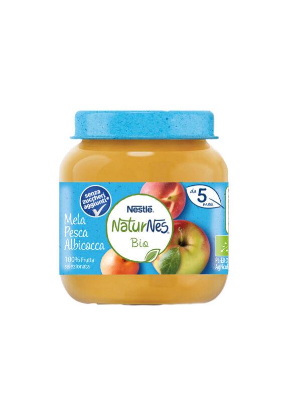 NATURNES - Omogeneizzato mela pesca albicocca 125gr - NATURNES BIO - Omogeneizzato frutta