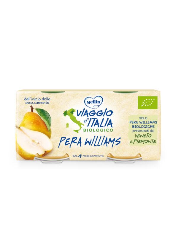 MELLIN - Bio pera williams 2x100 gr - MELLIN- VIAGGIO D' ITALIA - Omogeneizzato frutta