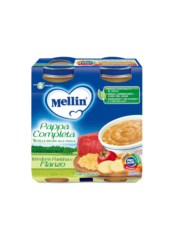MELLIN Pappa completa manzo 2x250 gr - MELLIN - Pappe complete