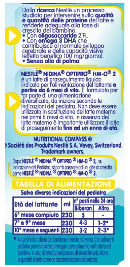 NESTLE' - Nidina 2 500 ml - NESTLE' - Latte 2