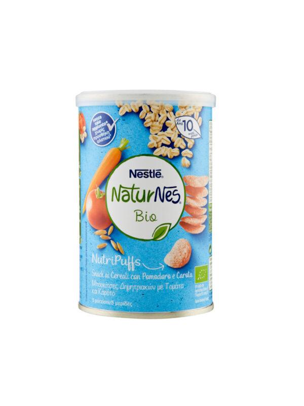 NATURNES - Nutripuffs cereali pomo e carota 35gr - NATURNES BIO - Snack per bambini