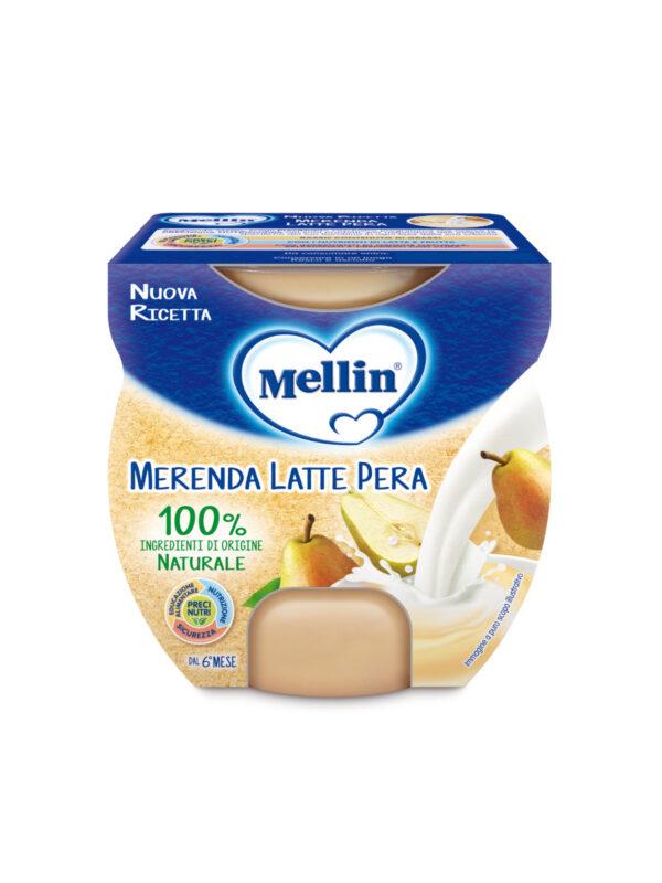 MELLIN - Merenda latte pera 2x100 gr - MELLIN - Yogurt e budini per bambini