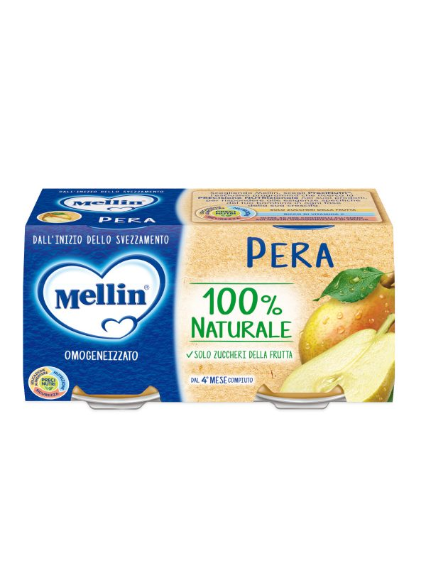 MELLIN Omogeneizzato pera 2x100 gr - acquisto minimo 24 vasetti - MELLIN - Omogeneizzato frutta