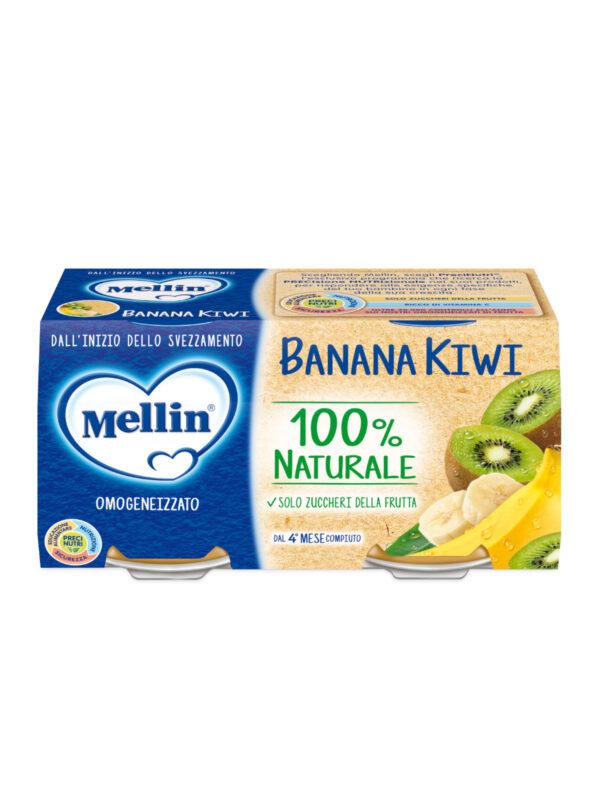 MELLIN Omogeneizzato banana kiwi 2x100 gr - MELLIN - Omogeneizzato frutta