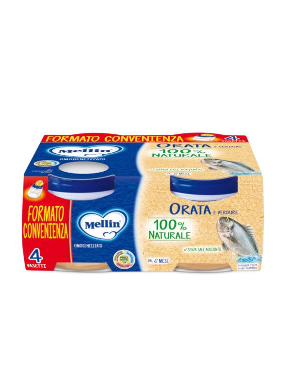 MELLIN Omogeneizzato orata 4x80 gr - MELLIN - Omogeneizzato pesce