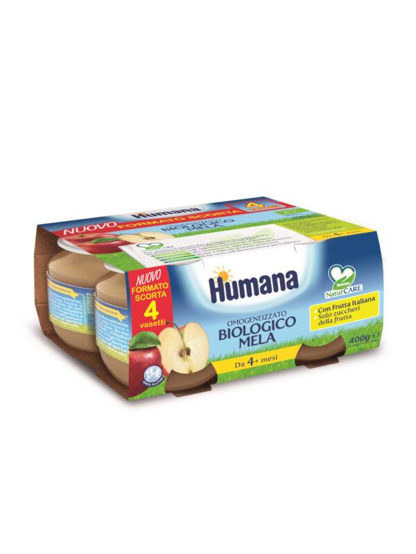 HUMANA omogeneizzato mela biologico 4x100 gr - HUMANA