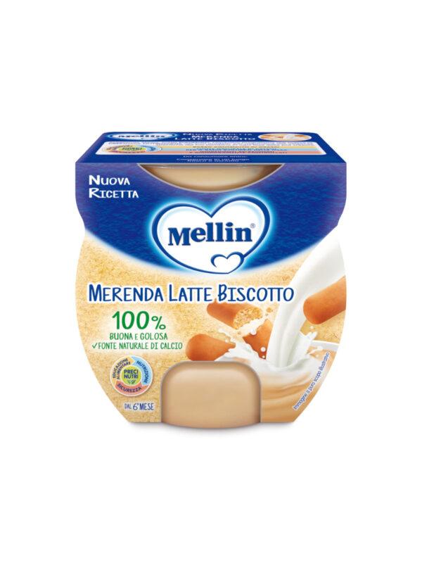 MELLIN Merenda latte biscotto 2x100 gr - MELLIN - Yogurt e budini per bambini