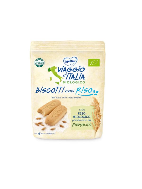 MELLIN - Bio biscotto riso 150 gr - MELLIN- VIAGGIO D' ITALIA - Biscotti per bambini
