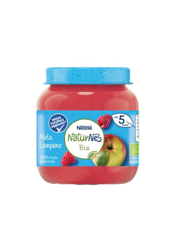 NATURNES - Omogeneizzato mela lampone 125gr - NATURNES BIO - Omogeneizzato frutta