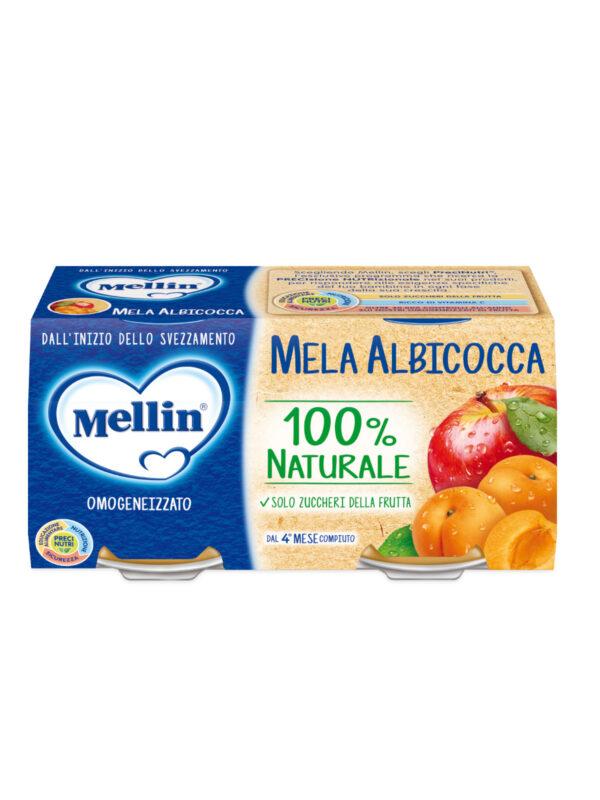 MELLIN Omogeneizzato mela e albicocca 2x100 gr - MELLIN - Omogeneizzato frutta