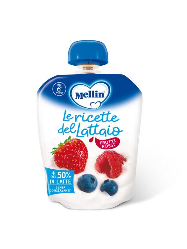 MELLIN - Pouch latte frutti rossi 85 gr - MELLIN - Merende da bere