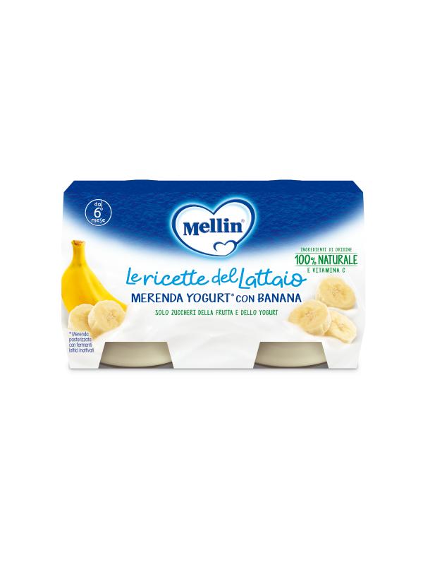 MELLIN Merenda yougurt banana 2x120 gr - MELLIN - Yogurt e budini per bambini