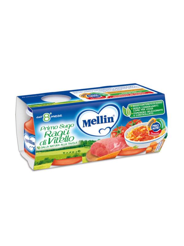 MELLIN Omogeneizzato primo sugo ragù vitello 2x80 gr - MELLIN - Riso e sughi per bambini
