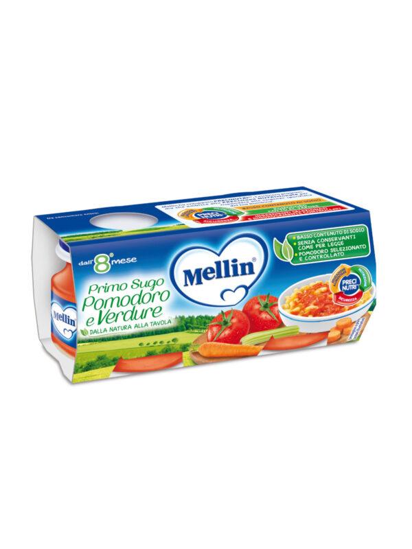 MELLIN Omogeneizzato primo sugo pomodoro e verdure 2x80 gr - MELLIN - Riso e sughi per bambini