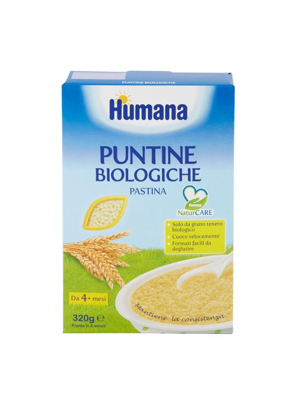 HUMANA Pastina puntine biologiche 320 gr - HUMANA - Pastine per bambini