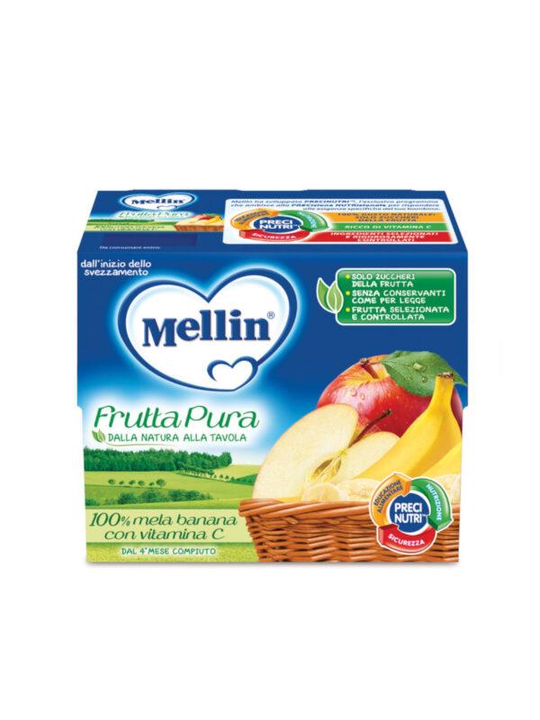 MELLIN Merenda fruttapura mela banana 4x100 gr - MELLIN - Frutta frullata