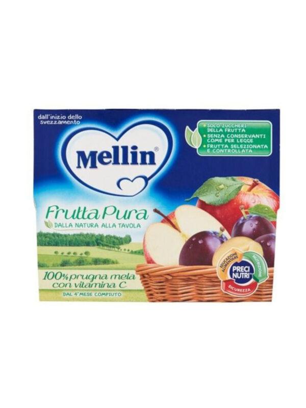 MELLIN Merenda fruttapura prugna mela 4x100 gr - MELLIN - Frutta frullata