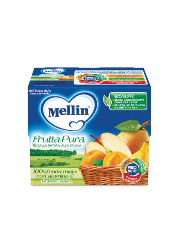 MELLIN Merenda fruttapura frutta mista 4x100 gr - MELLIN - Frutta frullata