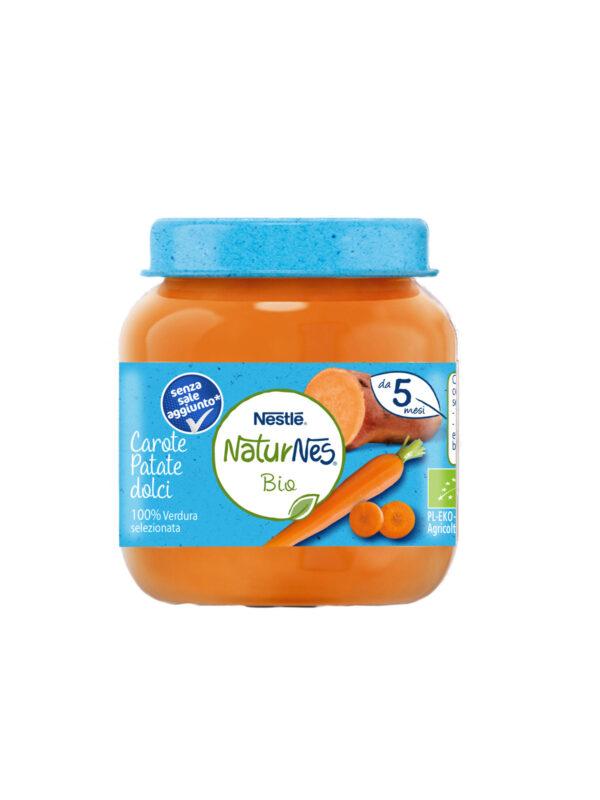 NATURNES - Omogeneizzato carote patate dolci 125 gr - NATURNES BIO - Omogeneizzato verdure