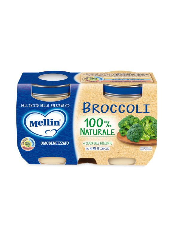 MELLIN - Omogeneizzato verdure broccoli 2X125 gr - MELLIN - Omogeneizzato verdure