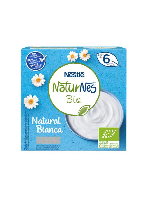 NATURNES - Merenda al latte bianca 90 gr - NATURNES BIO - Yogurt e budini per bambini