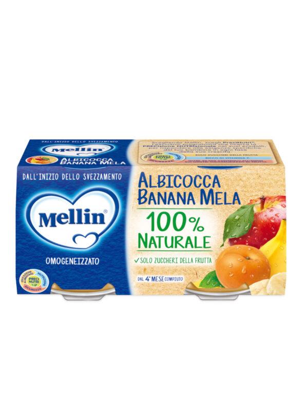 MELLIN Omogeneizzato albicocca banana mela 2x100 gr - MELLIN - Omogeneizzato frutta
