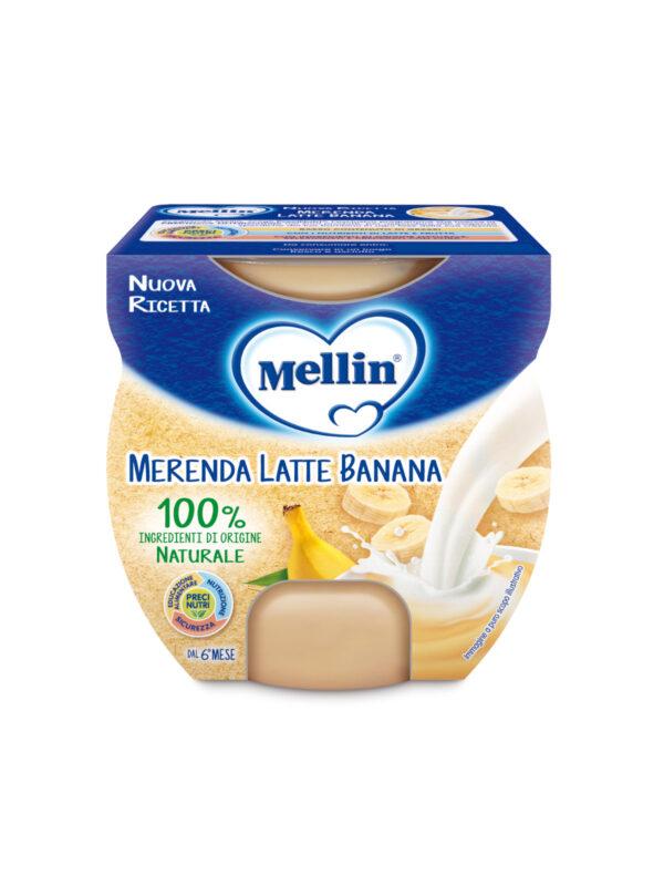 MELLIN - Merenda latte banana 2x100 gr - MELLIN - Yogurt e budini per bambini