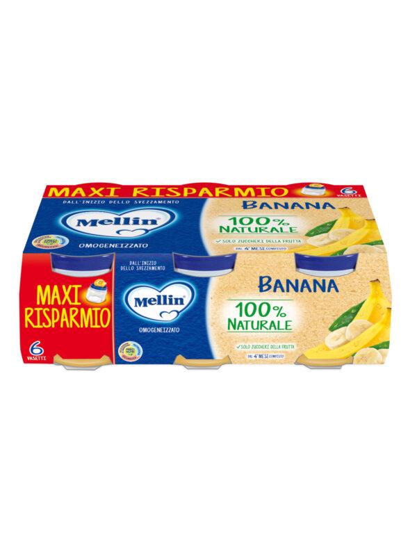 MELLIN - Omogeneizzato banana 6x100 gr - MELLIN - Omogeneizzato frutta