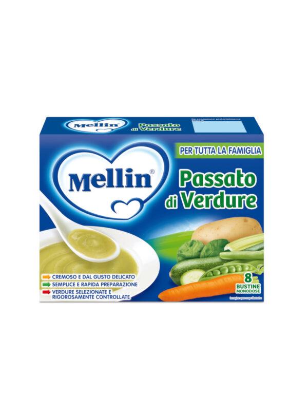 MELLIN Passato di verdura 8x13 gr - MELLIN - Brodi e passati per bambini