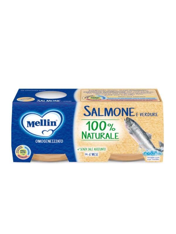 MELLIN Omogeneizzato salmone  2x80 gr - MELLIN - Omogeneizzato pesce