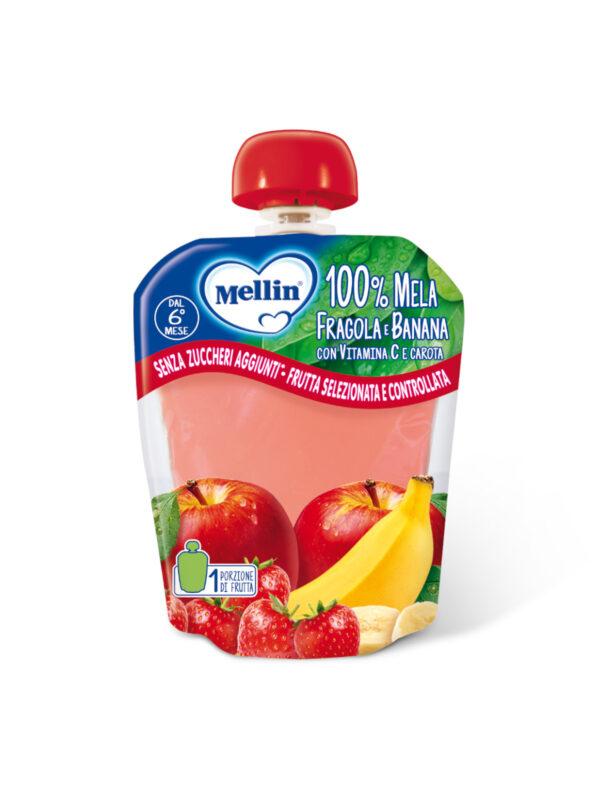 MELLIN - Pouch mela fragola banana 90 gr - MELLIN - Merende da bere