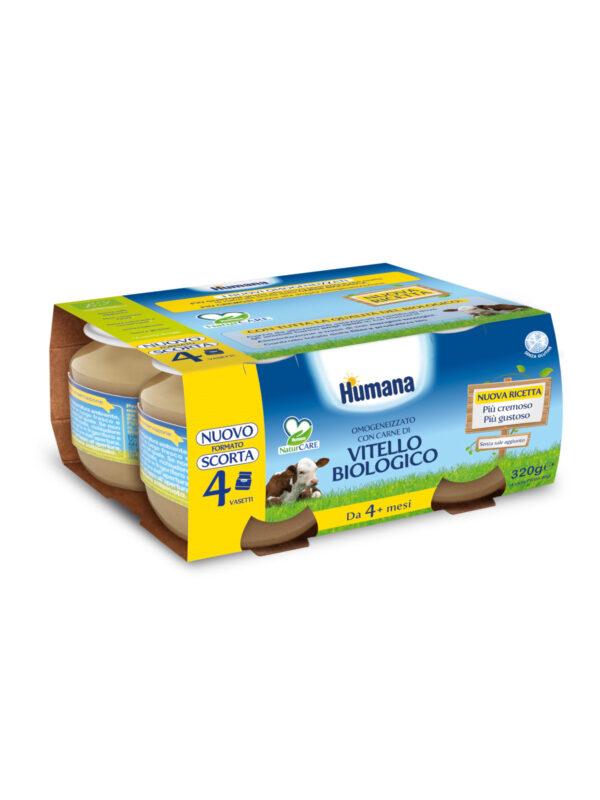 HUMANA omogeneizzato vitello biologico  4x80 gr - HUMANA - Omogeneizzato carne