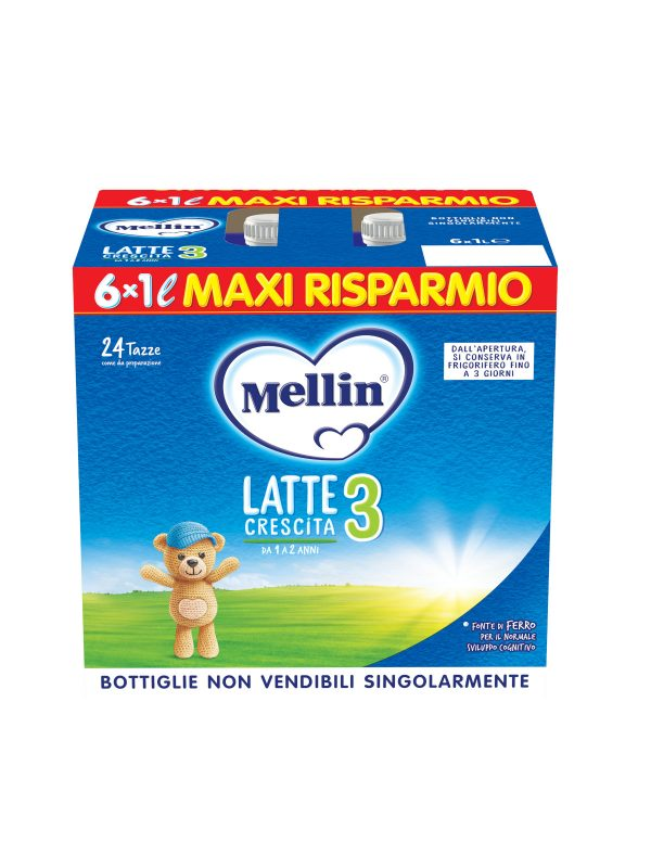 MELLIN Mellin crescita 3 6x1000 ml - MELLIN - Latte crescita 3-4-5