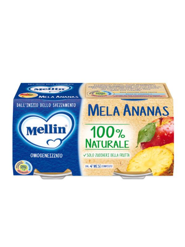 MELLIN Omogeneizzato mela ananas 2x100 gr - MELLIN - Omogeneizzato frutta