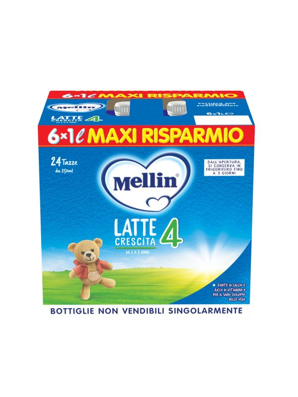 MELLIN Mellin crescita 4 6x1000 ml - MELLIN - Latte crescita 3-4-5