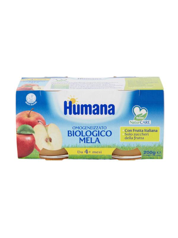 HUMANA omogeneizzato mela biologico 2x100 gr - HUMANA - Omogeneizzato frutta