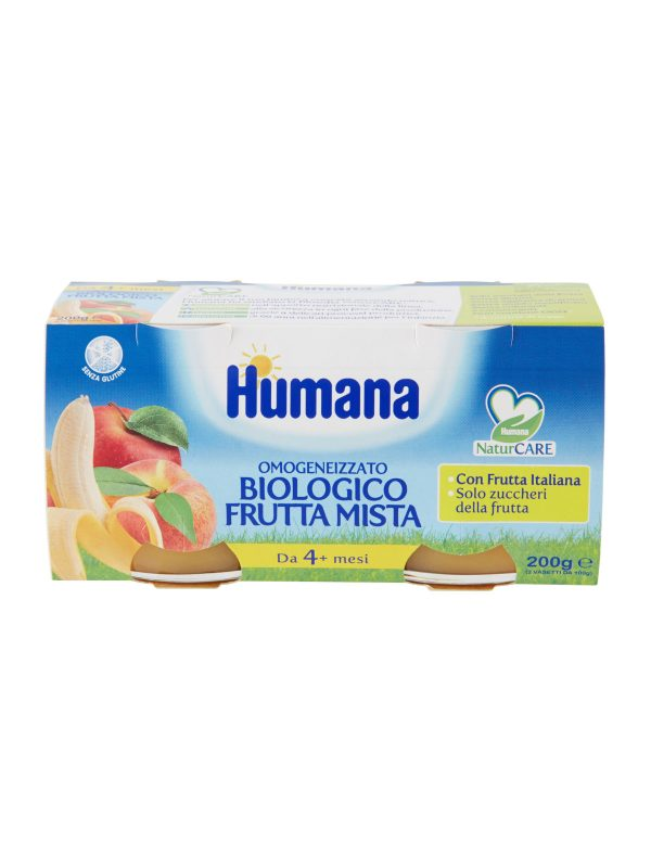 HUMANA omogeneizzato frutta mista biologico 2x100 gr - HUMANA - Omogeneizzato frutta