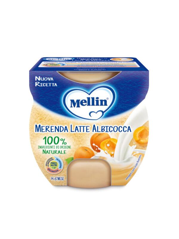 MELLIN - Merenda latte albicocca 2x100 gr - MELLIN - Yogurt e budini per bambini