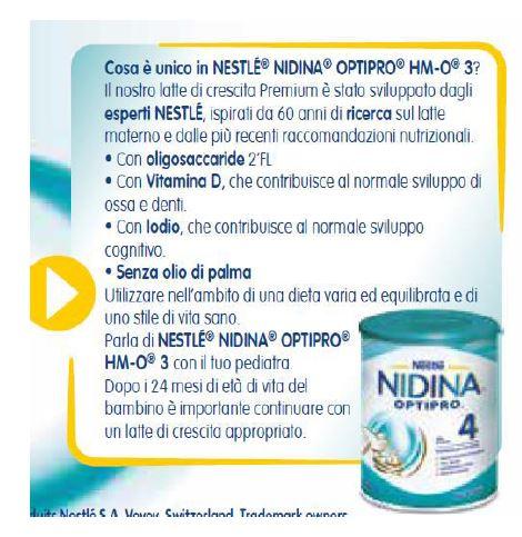 NESTLE' - Nidina crescita 3 800 gr - NESTLE' - Latte crescita 3-4-5