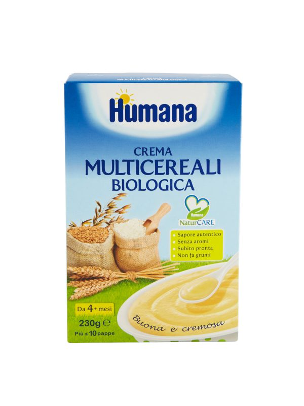 HUMANA Crema multicereali biologica 230 gr - HUMANA - Creme e Pappe Lattee