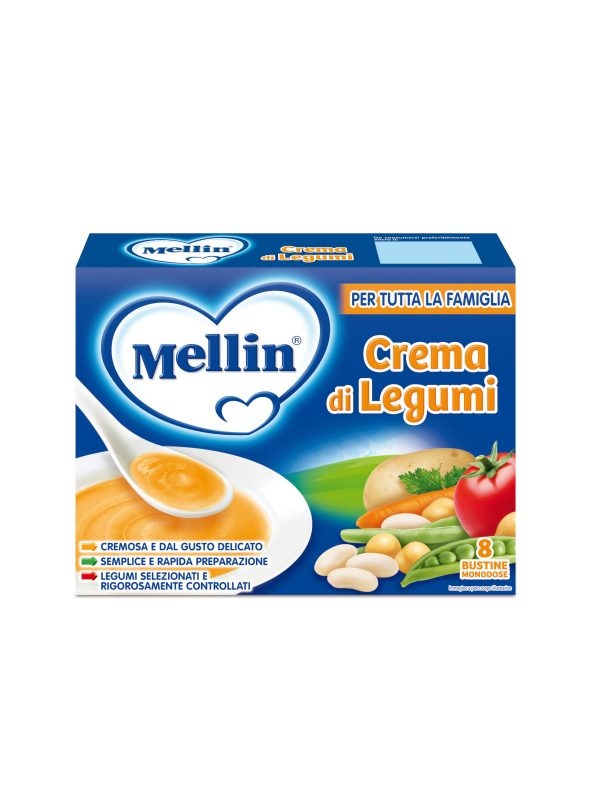 MELLIN Crema di legumi 13x8 gr - MELLIN - Creme e Pappe Lattee