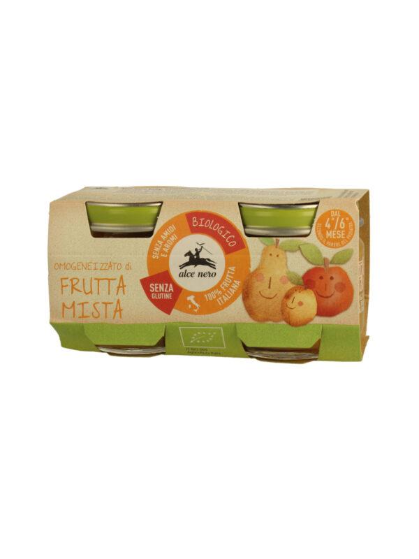 Omogeneizzato frutta mista Baby Food Bio Alce Nero 80g*2 - acquisto minimo 12 vasetti - Alce Nero - Omogeneizzato frutta