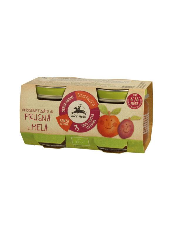 Omogeneizzato prugna e mela Baby Food Bio Alce Nero  80g*2 - Alce Nero - Omogeneizzato frutta