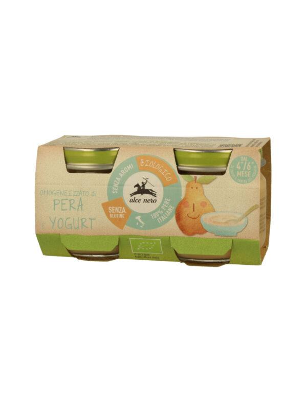 Omogeneizzato pera e yogurt BabyFood Bio Alce Nero 80g*2 - Alce Nero - Yogurt e budini per bambini