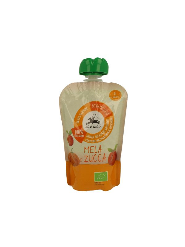 Purea mela e zucca in doypack Alce Nero Baby Food 100g - Alce Nero - Frutta frullata