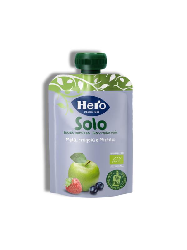 Pouch Mela Fragola Mirtillo 100 gr - Hero Solo - Merende da bere