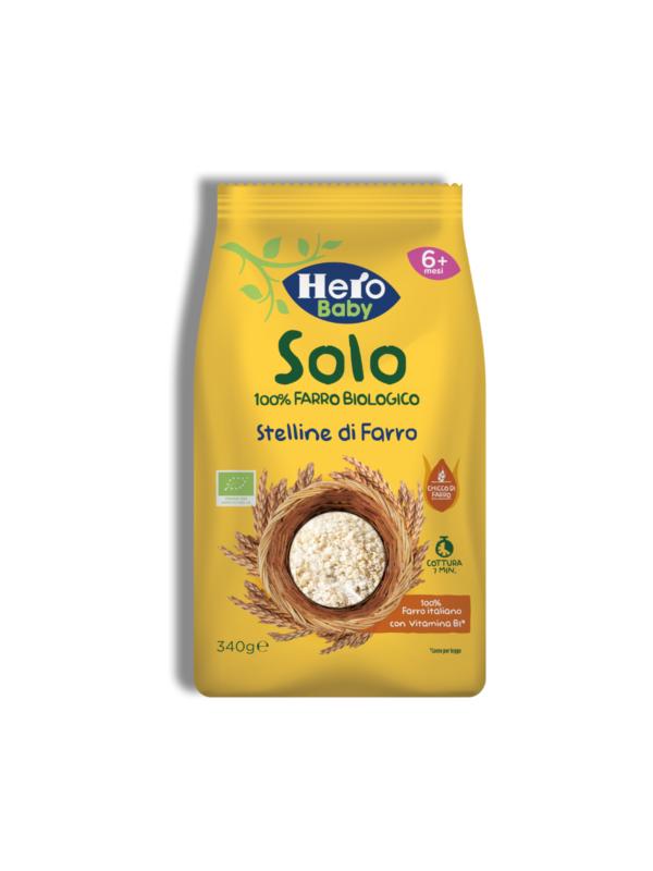 Pastina Stelline di farro 340 gr - Hero Solo - Pastine per bambini