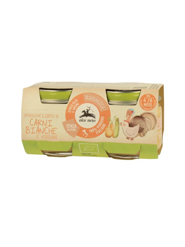 Omogeneizzato carni bianche con verdure Baby Food Bio Alce Nero 80g*2 - Alce Nero - Omogeneizzato carne