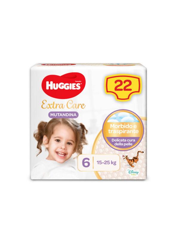 EXTRA CARE MUTANDINA TG. 6 - HUGGIES - Taglia 6 (15-30 Kg)